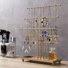 Wood Jewelry Display, Jewelry Tray, Jewelry Stand, Jewellery Storage, Jewellery Display, Metal Jewelry, Jewelry Holder, Diy Necklace Holder Stand, Jewelry Booth