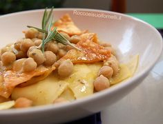 Ciceri e tria - Italian region: Apulia; main ingredients: handmade pasta (tria) and chickpeas (ciceri)