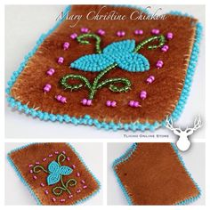 #Caribou‬ Cardholder by ‪#‎Tlicho‬ ‪#‎Elder‬ Mary Christine Chinkon of ‪#‎Behchoko‬, NT online: http://onlinestore.tlicho.ca/products/caribou-cardholder-2