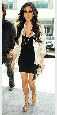 Simple cardigan over dress