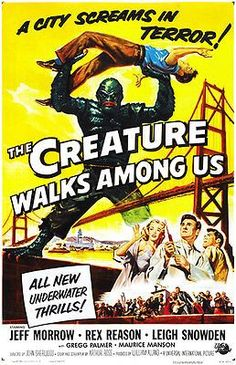 The Creature Walks Among Us - 1956 - Movie Poster