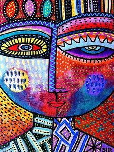 Ruby Tree Goddess Canvas Print / Canvas Art by Sandra Silberzweig Sandra Silberzweig, Hamsa Art, Afrique Art, Magazine Crafts, Mini Canvas Art, Abstract Faces, Elements Of Art, Art Plastique, Elementary Art