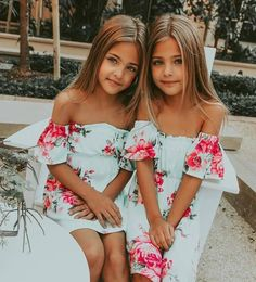 New Fashion Kids Photography Style Ideas Cute Twins, Cute Girls, Cute Babies, Baby Kids, Twin Babies, Twin Toddlers, Fashion Kids, Latest Fashion, Preteen Fashion