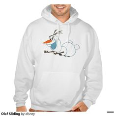 Disney Frozen Olaf Sliding Basic Hooded Sweatshirt in 9 colors. For order or details click on the image!