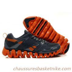 Reebok Zig Hommes Tech Chaussures de course Gris Noir Orange Shoes 2016,  Tech, Reebok 66be4e1c99a5