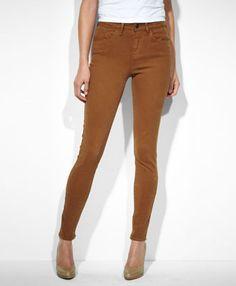 Levi's High Rise Skinny Jeans - Portland Brown - Skinny ($50-100) - Svpply