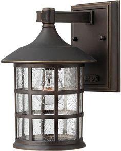 0-015258>Freeport 1-Light Fluorescent Small Outdoor Wall Light Oil Rubbed Bronze