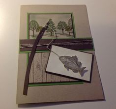 Zum Geburtstag Eines Anglers Musste Ich Letztens Eine Karte Basteln. So Ist  Diese Karte In Der Größe Entstanden. Die Idee Dazu Habe Ich B.