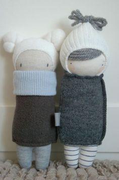 sock doll kaszka z mlekiem muc muc doll - Doll Patterns, Sewing Patterns, Animal Patterns, Sock Crafts, Sock Toys, Fabric Toys, Paper Toys, Sock Animals, Clay Animals