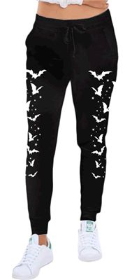 Rat Baby - Bats & Stars Gothic Skinny Leg Sweatpants #infectiousthreads #gothic #goth #alternative #alt #sweatpants #loungepants #pajamas #bats #stars