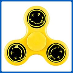 Fakalove Nirvana Smiley Face Hand Toys Triangle Fingertips Peg-top Toys Toy Game Whipping Top Scopperil Finger Tip For Adults and children Spinner Fidget - Fidget spinner (*Amazon Partner-Link)