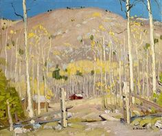 "'' ""Aspens up Twinning Way"" ''William Victor Higgins (1884 - 1949)"