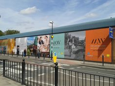 Giant PVC banners printed and attached to side of building by 4Site Implementation