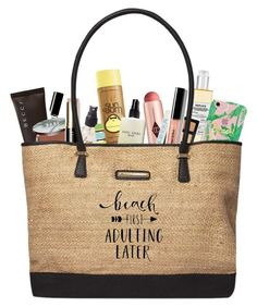 """""""Top Beauty Set of the Week / Beach bag"""" by tris-prior-eaton-00 ❤ liked on Polyvore featuring beauty, Maison Margiela, Bobbi Brown Cosmetics, Charlotte Tilbury, Rebecca Minkoff, Becca, Olivine, Urban Decay, Dorothy Perkins and Summer"""