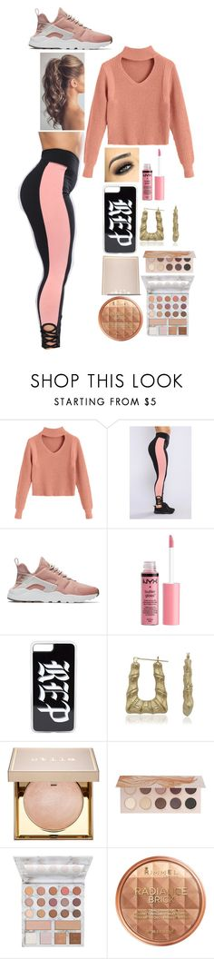 """Roll up"" by jocelyn-cardona-1 ❤ liked on Polyvore featuring beauty, NIKE, Charlotte Russe, Bamboo, Stila, ZOEVA, BHCosmetics and Rimmel"