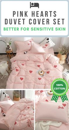 🌎 FREE Worldwide Shipping 🌎 On This Hearts Embroidered Pink Girls Bedding Set ✔️ Cotton Fabric ✔️ Hypoallergenic Qualities ✔️ No Chemical Retention ✔️ Active Environmental Printing ✔️ Sensitive Skin Friendly Fabric Cute Bedding, Cotton Bedding Sets, Let's Have Fun, Home Organization, Organizing, Cool Apartments, Betta, Perfect Place, Duvet Covers