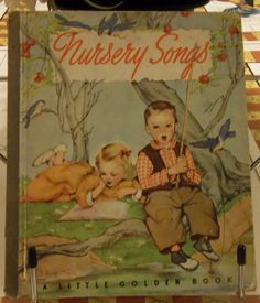 Little Golden Book #6-Nursery Songs 1942. First Edition (original blue spine)