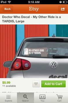 My other ride is a TARDIS sticker