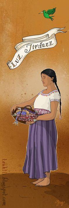 Doña Luz Jiménez con cintas hechas con telar de cintura. Pocahontas, Disney Characters, Fictional Characters, Disney Princess, Movie Posters, Movies, Restaurant, Ribbons, Fabrics