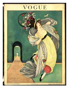 ⍌ Vintage Vogue ⍌ art and illustration for vogue magazine covers - Aug 1918 George Plank
