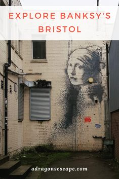 The Girl with the Pierced Eardrum graffiti by Banksy is located along the delightful Harbourside in Bristol. Check out Banksy's graffiti in Bristol, and pin this for later! Banksy Graffiti, Street Art Banksy, Banksy Artwork, Bansky, Bristol Street, City Of Bristol, Bristol Uk, Cool Places To Visit, Places To Go