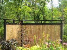 Outdoor, Stylish Creative Bamboo Privacy Fence Ideas For Backyard Garden  Decoration ~ Aesthetic Bamboo Fencing Ideas For Yard Parting And Decor