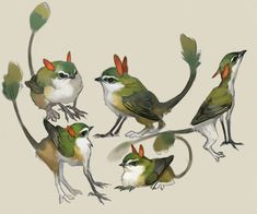 Over on Twitter, I saw a fantastic piece of art. The artist is ナブランジャ‏ , and I immediately fell in love. Tiny little sparrows with cat legs and wings. It's a griffon! I love griffons, and the…