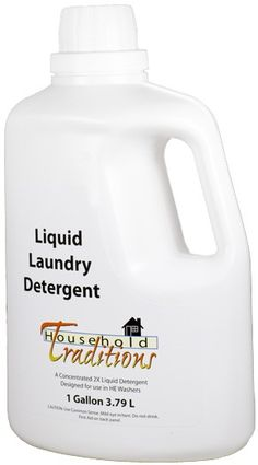 NEW! Non-Toxic Liquid Laundry Detergent - free of fragrances, phosphates, animal by-products, chlorine, dyes and other common triggers for respiratory or skin irritations.