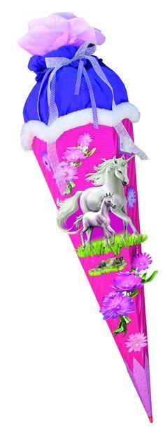 mit // ohne Kunststoff S Rohling Wellpappe 33 // 42 // 70 cm Schultüte rosa