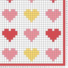 Hearts blanket - Crochet Pattern Blanket - pattern - Crochet Graph - Crochet Pattern - Blanket - Corner to Corner - Baby Blanket Hearts blanket Crochet Pattern Blanket pattern Christmas Crochet Blanket, Crochet Heart Blanket, Afghan Crochet Patterns, Cross Stitch Patterns, Graph Crochet, Crochet Baby, Tapestry Crochet, Heart Patterns, Knitting