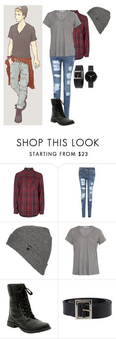 """""""Modern attack on Titan//Jean kirstein"""" by gglloyd ❤ liked on Polyvore featuring Levi's, Topshop, Billabong, Helmut Lang, Dolce&Gabbana, I Love Ugly and modern"""