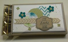 Toffifee Verpackung, Chocolate or sweets wrapping, Gorgeous Grunge, Ach du meine Grüße, DSP, natural Chevron Ribbon, Petite Petals, Itty Bitty Punch, Stampin' Up!