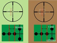 Calculate Distances With a Mil Dot Rifle Scope