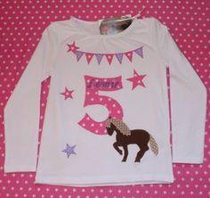 T-Shirts - Geburtstags-Shirt Pferd - ein Designerstück von Suehse-Welt bei DaWanda