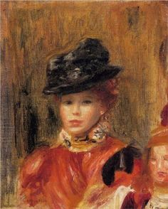 Madame Le Brun and Her Daughter  Pierre-Auguste Renoir
