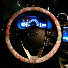 $34.85 Floral GD PU Leather Auto Car Steering Wheel Covers 15 inch 38CM - Beige, Selected high-grade PU Leather, do not fall off, Inner ring using Natural rubber, Green, No stimulation, Non-Slip, Excellent breathability, pest control, sterilization, anti-static, Easy to clean, no deformation, high wear resistance, Four Seasons General.