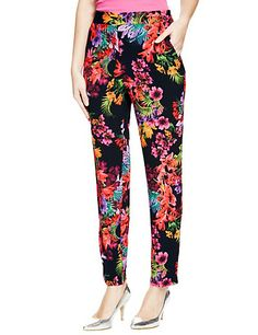 Floral Tapered Trousers - m&s £29.50