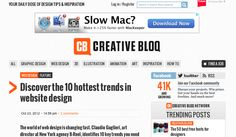 Discover the 10 hottest trends in website design  http://www.creativebloq.com/web-design/trends-website-design-10121055