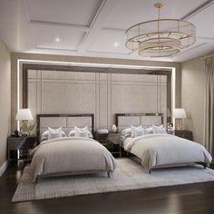 Coastal Bedrooms, Guest Bedrooms, Luxurious Bedrooms, Diy Home Decor Bedroom, Modern Bedroom, Bedroom Ideas, Glam Bedroom, Modern Beds, Master Bedroom