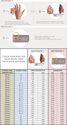 Weddings Discover Metal Jewelry Ring-Size-Chart - Check your ring size for your ring orders from Boutique Ottoman. Bracelet Size Chart, Bracelet Sizes, Ring Sizing Chart, Bangle Bracelet, Measure Ring Size, Bijoux Design, Thumb Rings, Silver Wedding Rings, Metal Jewelry