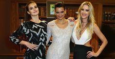 Camila Queiroz e Gianne Albertoni: belas em encontro fashion