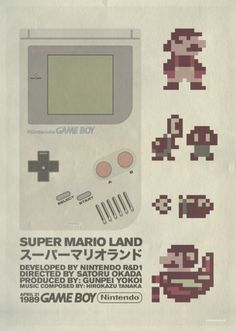 Retro Video Game Poster Side: Creative studio Robotandspark made this Super Mario Land poster for the first ever Middle East Comic convention.