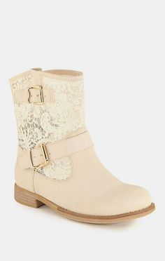Beige Clayton Crochet Boot