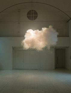 Nimbus II, 2012, by Berndnaut Smilde, Artist uses refined method of climate control to create clouds within buildings as sculpture