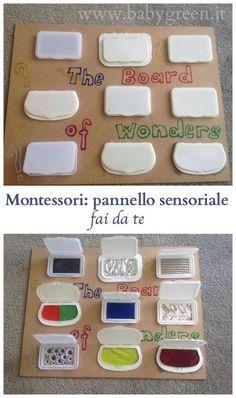 Montessori: pannello sensoriale fai da te - BabyGreen