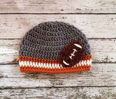 Texas Longhorns Inspired Football Beanie in by mamamegsyarnshoppe, $18.00