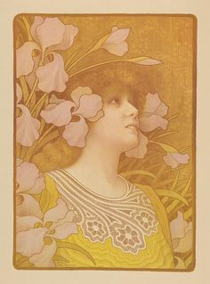 Paul Berthon - Sarah Bernhardt as Mélissinde in La Princesse Lointaine, 1901