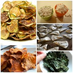 5 Healthy Chip Alternatives - Recipes for Zucchini Chips, Sweet Potato Chips, Baked Tortilla Chips and more! - Ditch those Potato Chips and enjoy these weight loss friendly recipes!