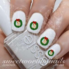 Tinker Bell Christmas Nail Art Nail Water Decals https://www.sweetworldofnails.com