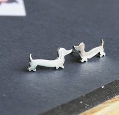 Dachshund Earrings Doxie Studs Wiener Dog Jewelry Daschund Studs Sausauge Dog Love on Etsy, $42.00